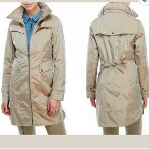 Cole Haan Packable Rain Jacket Coat Topaz Small